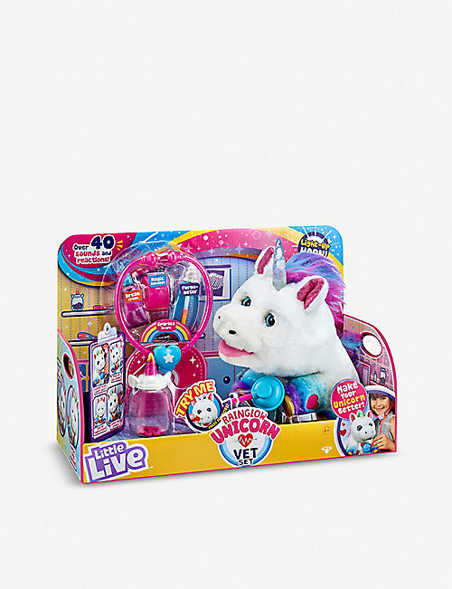 LITTLE LIVE PETS Rainglow Unicorn Vet interactive toy set
