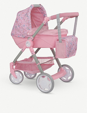 BABY ANNABELL Roamer pram with matching bag