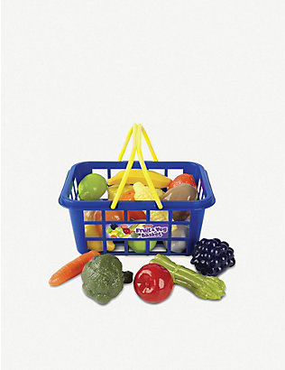 CASDON: Fruit & Veg shopping basket toy set
