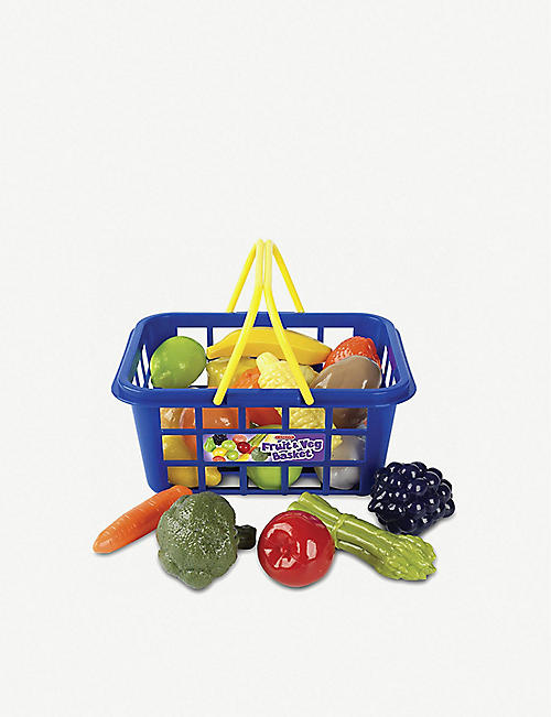 CASDON Fruit & Veg shopping basket toy set