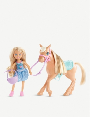 BARBIE Chelsea & pony playset