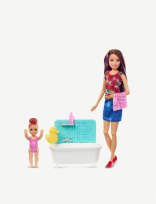 BARBIE Skipper babysitter bath play set