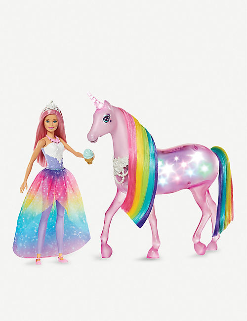 BARBIE Magic Touch Barbie and unicorn set