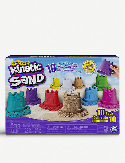 KINETIC SAND: Castle Containers 10-Colour Pack