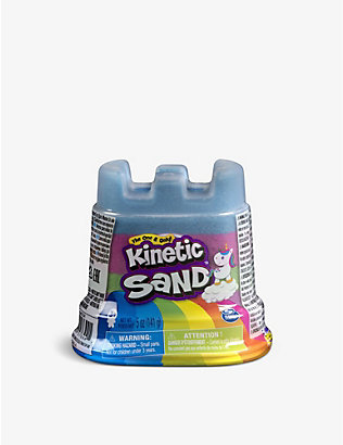 KINETIC SAND: Rainbow sand unicorn castle 142g