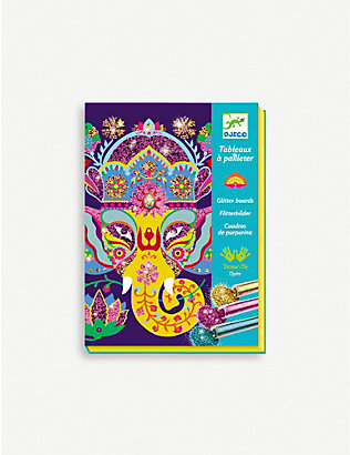DJECO: Animal glitter boards craft kit