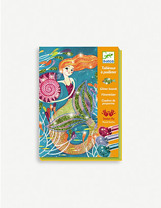 DJECO: Mermaid glitter boards craft kit