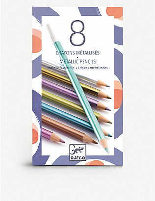 DJECO: Metallic colouring pencils set of 8