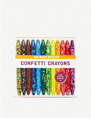 KID MADE MODERN:Confetti Crayons 12 件装