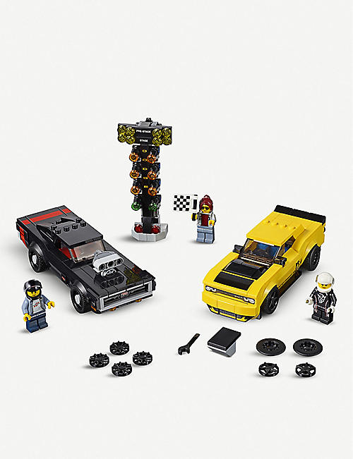 LEGO Speed Champions 2018 Dodge Challenger SRT Demon and 1970 Dodge Charger R/T set