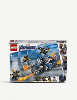 LEGO 76123 Marvel Superheroes Captain America: Outriders Attack set