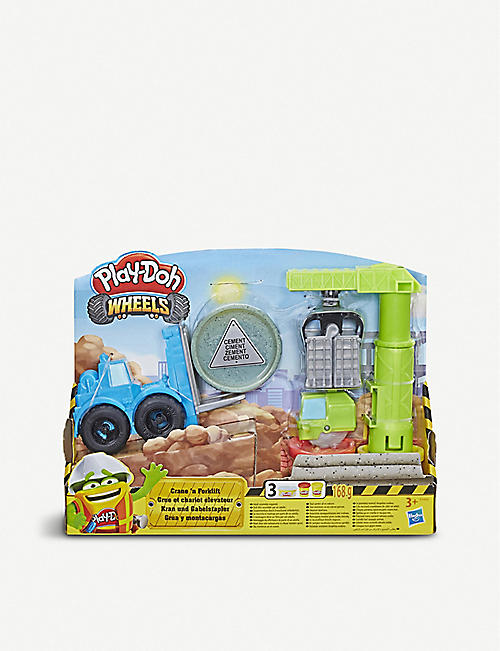 PLAYDOH Wheels Crane and Forklift Construction Toy
