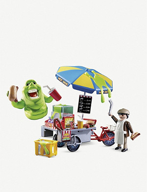 PLAYMOBIL Ghostbusters Slimer & hot dog stand playset