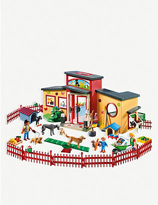 PLAYMOBIL:City Life Tiny Paws Pet Hotel 动物套装