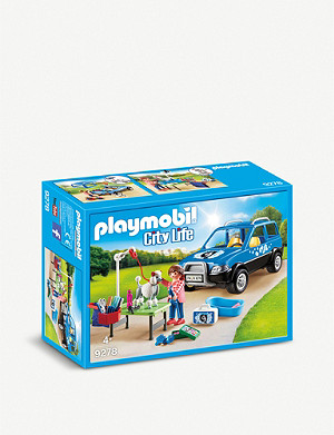PLAYMOBIL City Life Mobile Pet Groomer playset