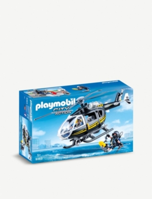 PLAYMOBIL SWAT City Action helicopter playset