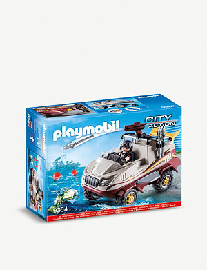 PLAYMOBIL City Action amphibious truck playset