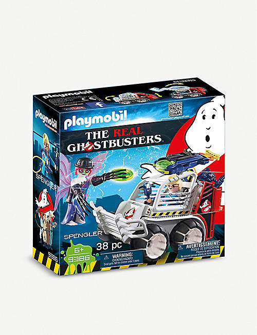 PLAYMOBIL The Real Ghostbusters Spengler with Cage Car