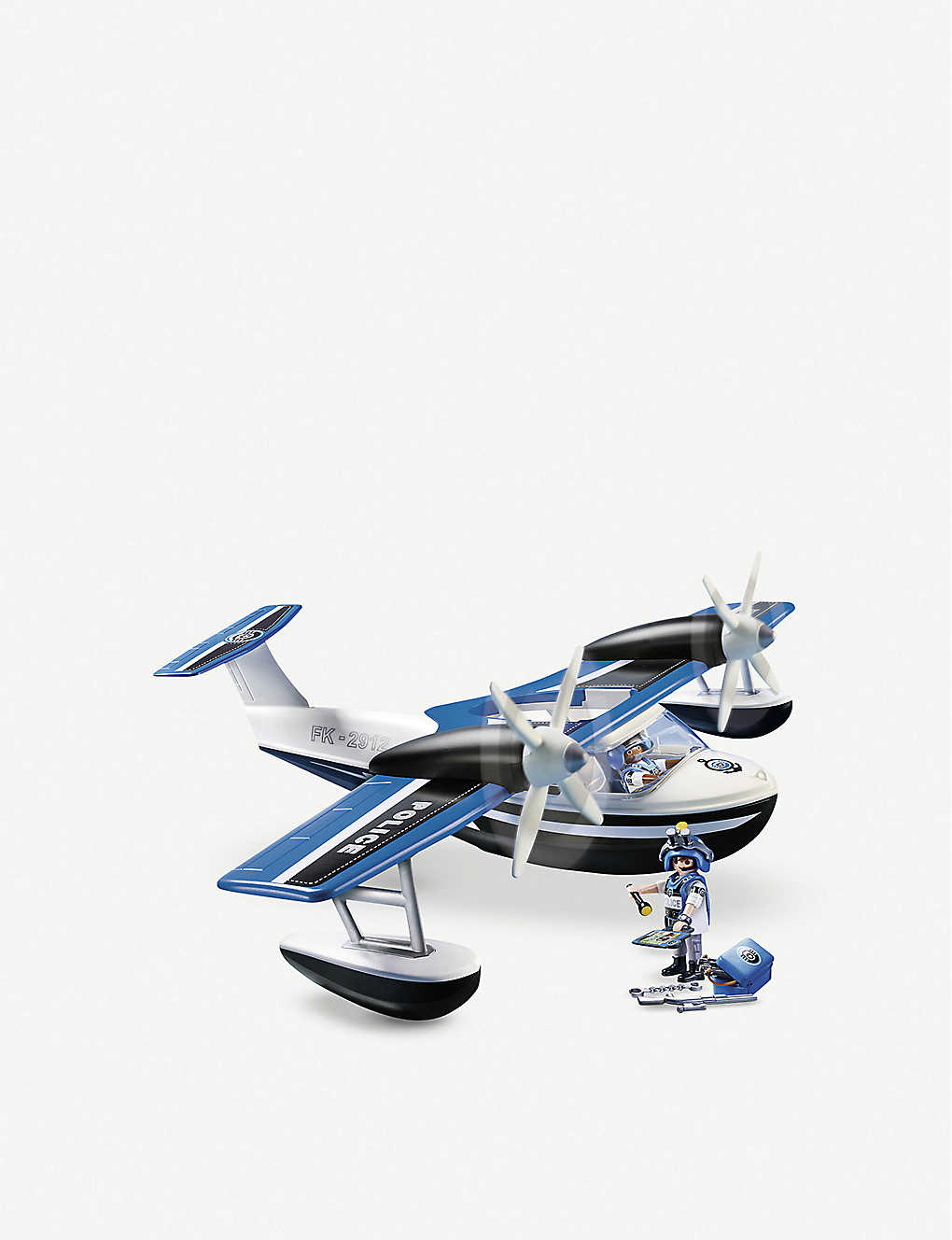 PLAYMOBIL: Action floating police seaplane playset