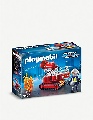 PLAYMOBIL: City Action water cannon and figure playset