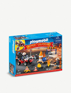 PLAYMOBIL Construction Site Fire Rescue advent calendar playset