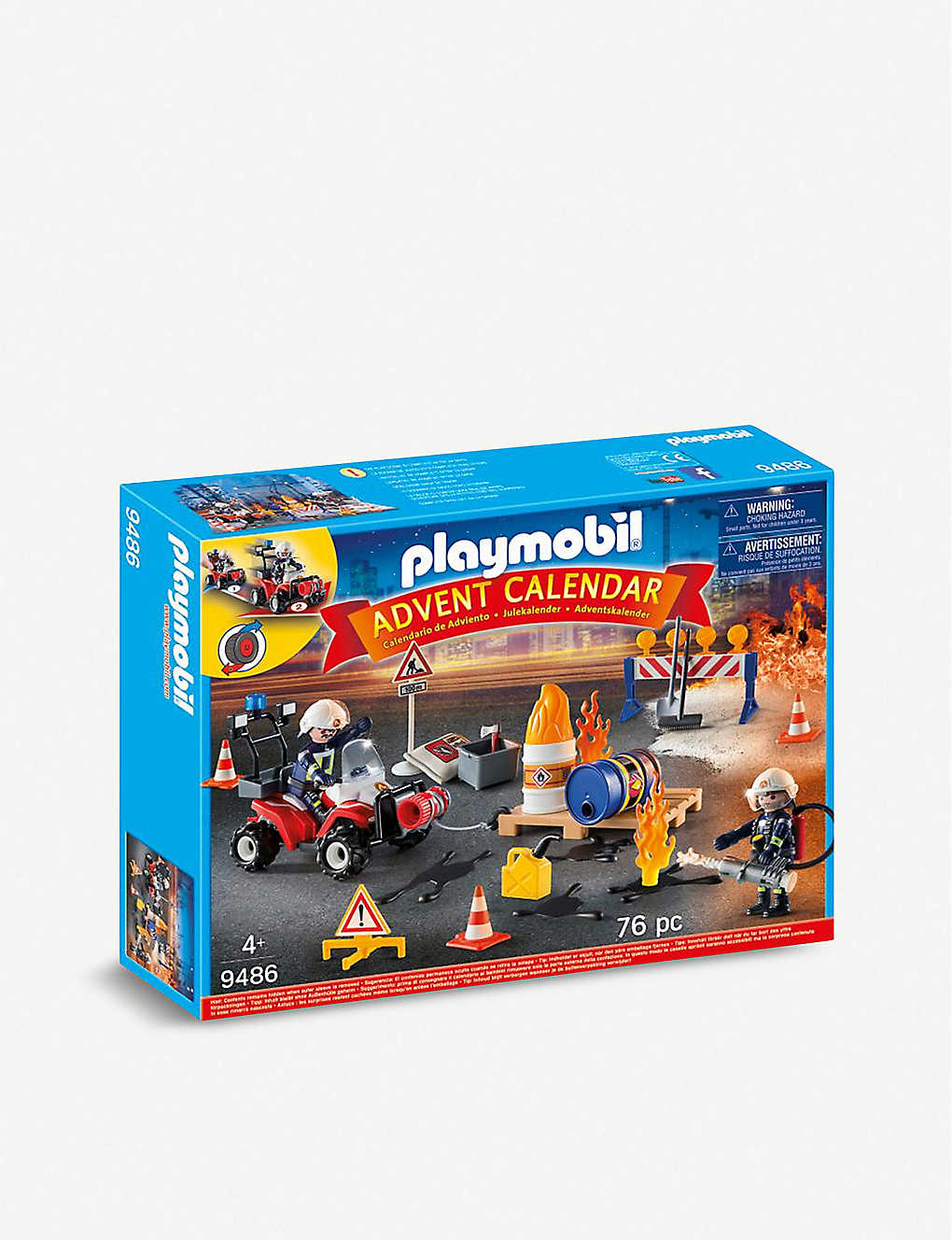 PLAYMOBIL: Construction Site Fire Rescue advent calendar playset