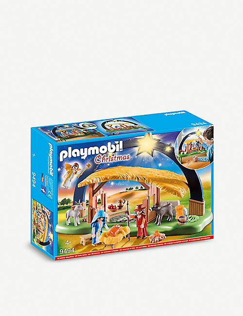 PLAYMOBIL Illuminating Nativity Manger set 4+