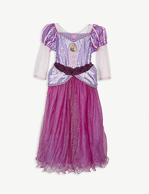 DRESS UP: Disney Princess Rapunzel fancy dress costume and tiara 5-6 years