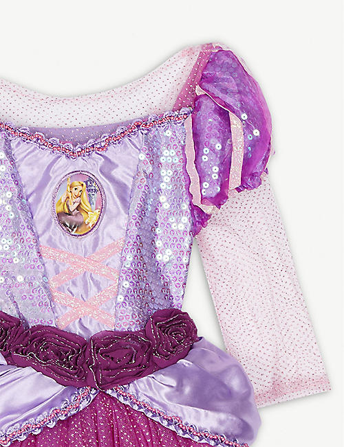 DRESS UP Disney Princess Rapunzel fancy dress costume and tiara 3-4 years