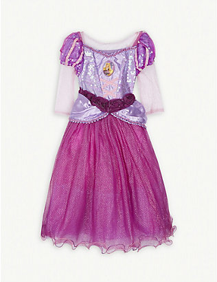 DRESS UP: Disney Princess Rapunzel fancy dress costume and tiara 3-4 years