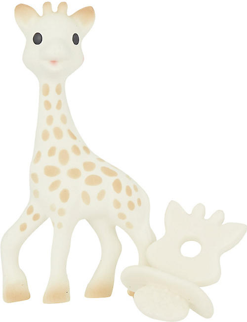 SOPHIE THE GIRAFFE Rubber chew and giraffe set