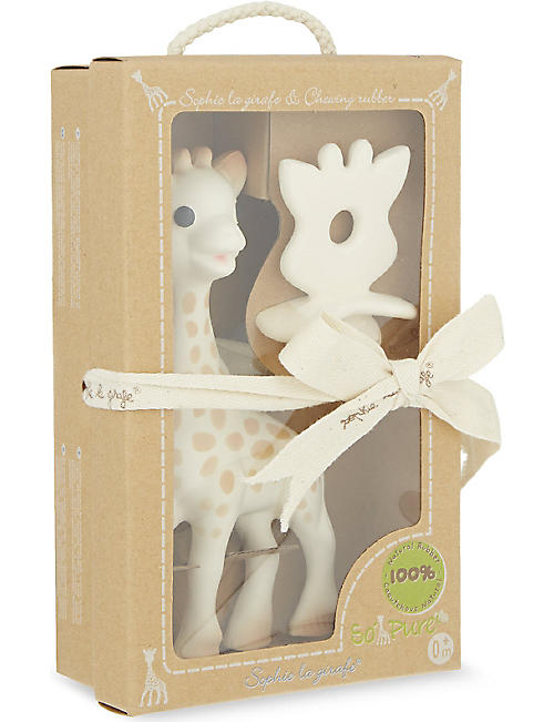 SOPHIE THE GIRAFFE: Rubber chew and giraffe set