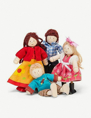 LE TOY VAN Family-of-four wooden dolls