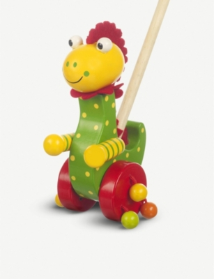 ORANGE TREE TOYS Dino wooden push-along toy