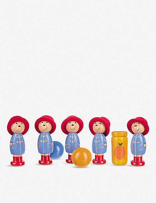 ORANGE TREE TOYS Paddington Bear wooden skittles