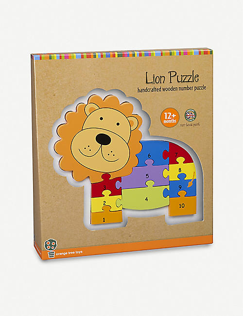 ORANGE TREE TOYS Lion numbered wooden puzzle