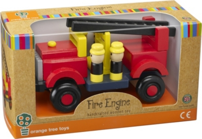 ORANGE TREE TOYS Wooden Fire Engine toy