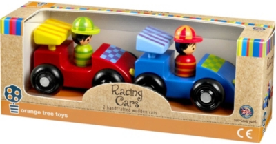 ORANGE TREE TOYS Wooden racing car set