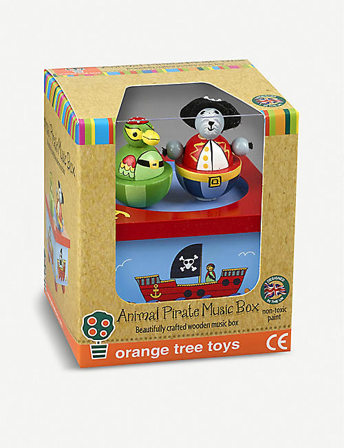 ORANGE TREE TOYS Animal pirate wooden music box