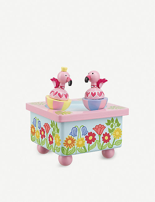 ORANGE TREE TOYS: Flamingo wooden music box