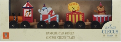 ORANGE TREE TOYS Wooden circus animal train playset