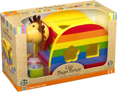 ORANGE TREE TOYS Wooden lion shape sorter
