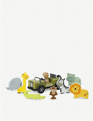 ORANGE TREE TOYS: Safari wooden play set