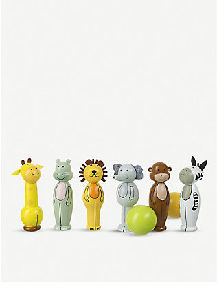 ORANGE TREE TOYS: Safari wooden skittles