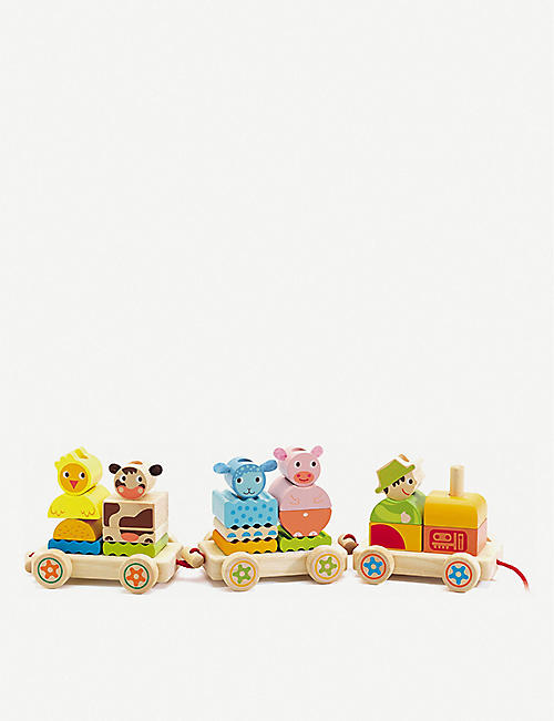 DJECO Creaferme wooden train set