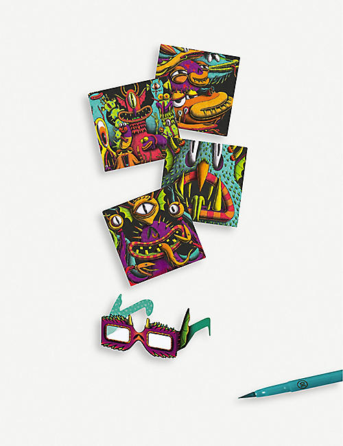 DJECO Funny Freaks 3D colouring book 7-13 years