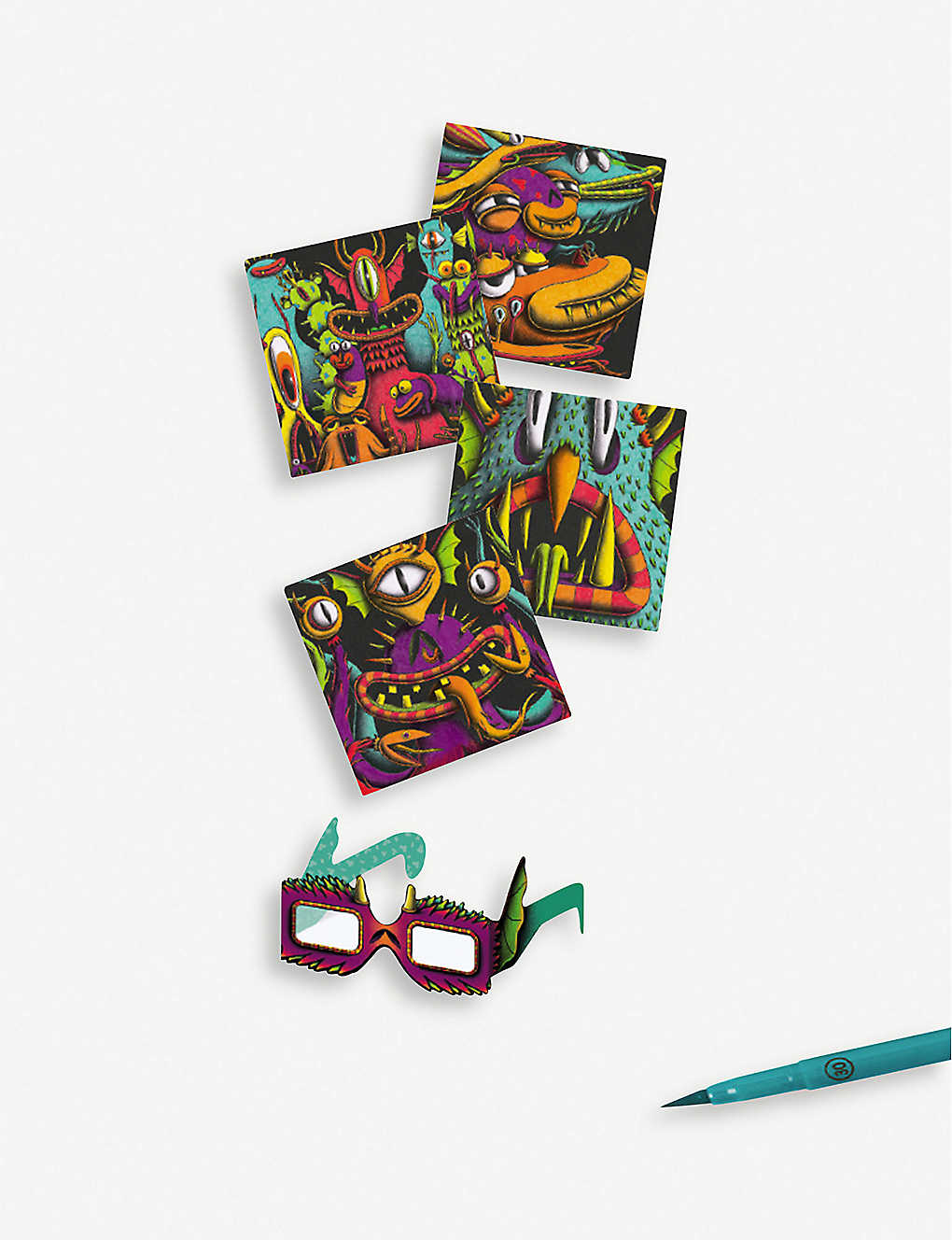 DJECO: Funny Freaks 3D colouring book