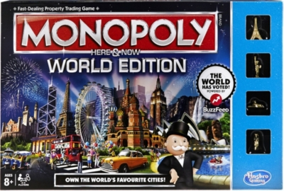 BOARD GAMES - Monopoly Here & Now World Edition board game