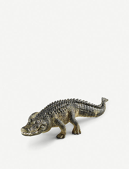 SCHLEICH: Alligator toy figure 19cm x 5.8cm