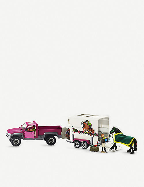 SCHLEICH:Pick up with horse 游戏套装